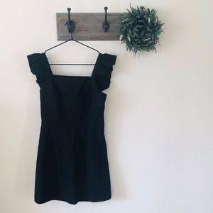 NWT Urban Renewal Black Ruffle Mini Dress XS